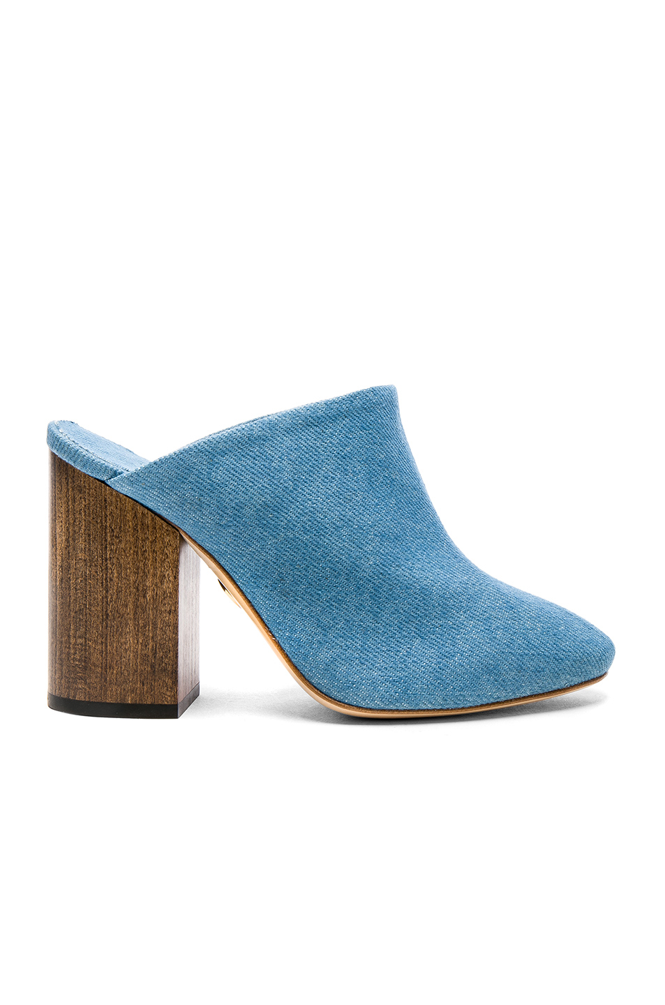 Brother Vellies Denim Bianca Mules in Blue