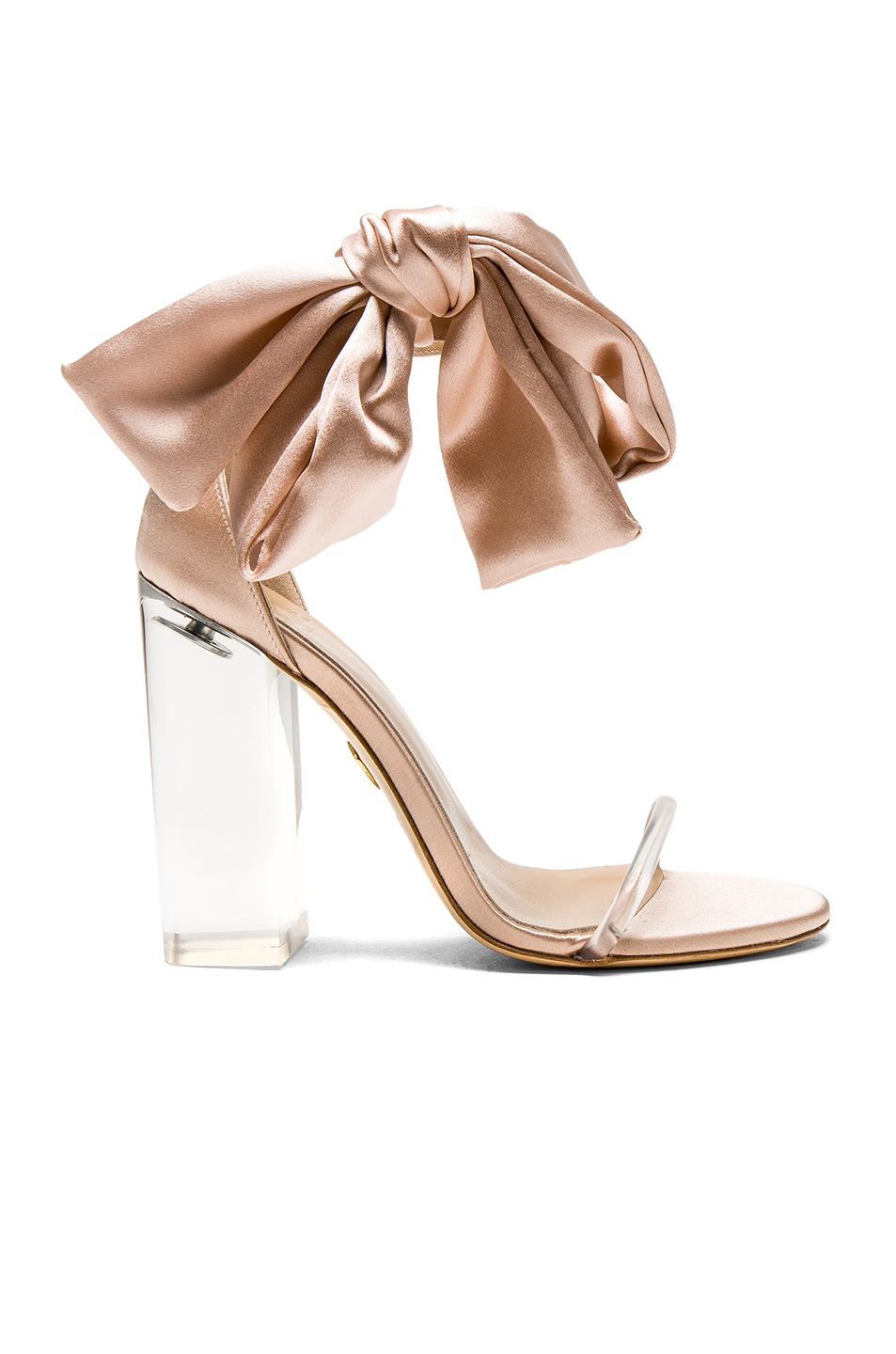 Brother Vellies Satin Caroline Heels in Pink