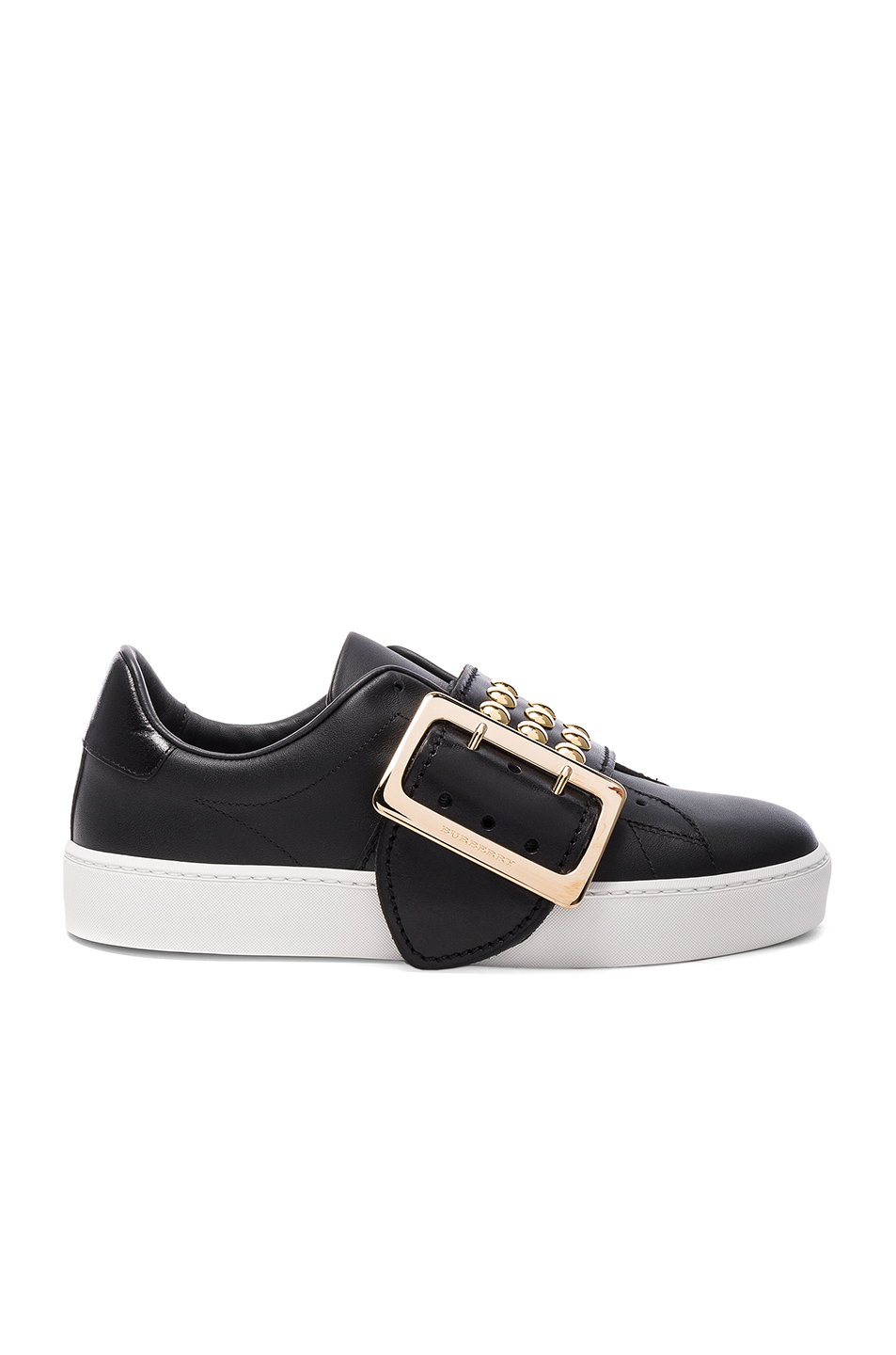 Burberry Studded Leather Westford Sneakers in Black