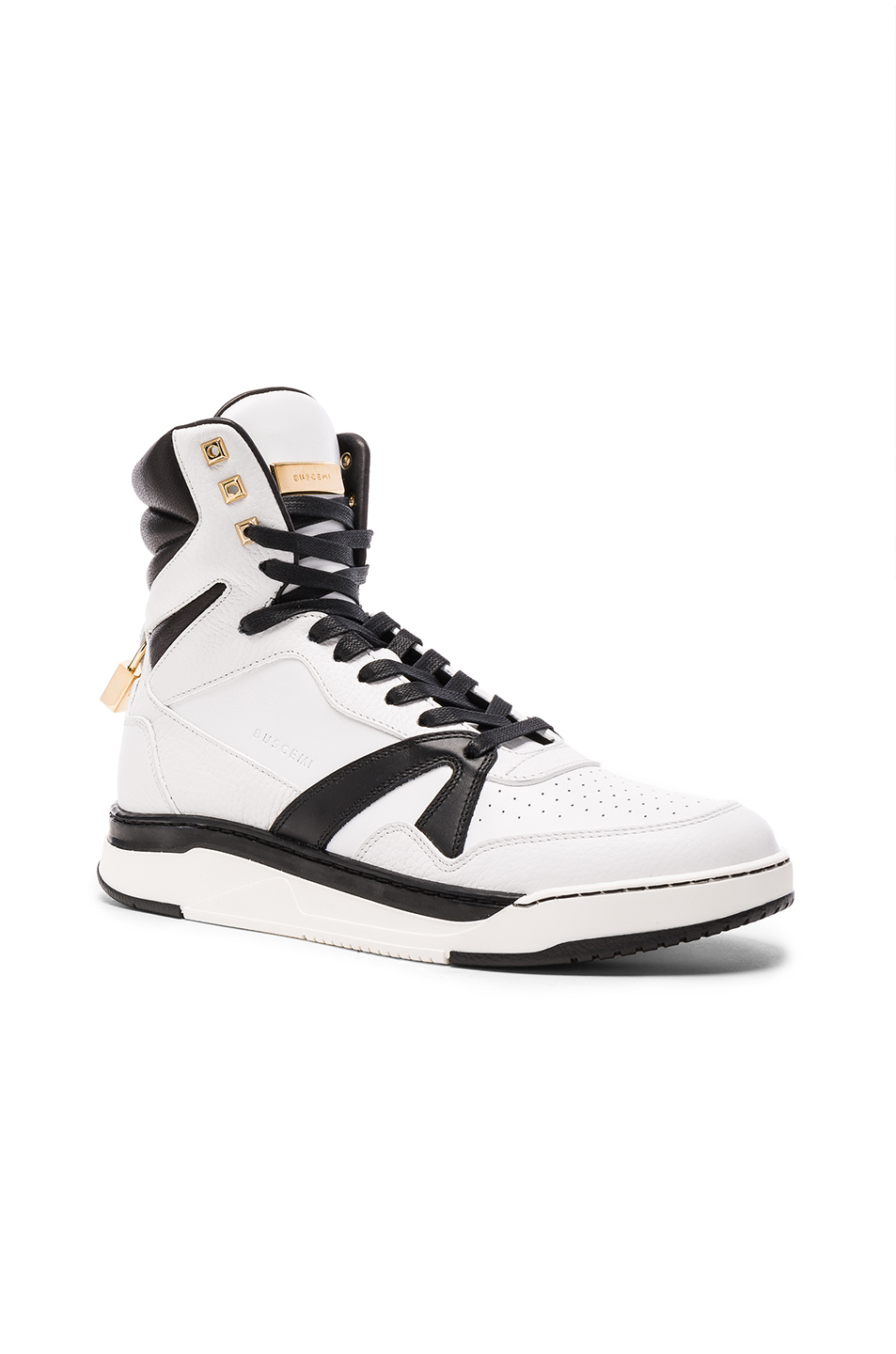 Buscemi 150MM Leather Sneakers in White