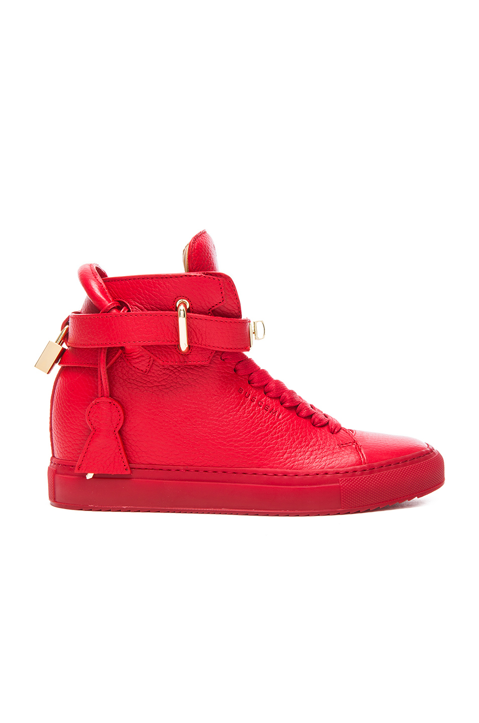 Buscemi 100MM Leather Alta in Red