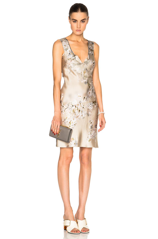 Calvin Klein Collection Galeas Dress in Neutrals,Floral
