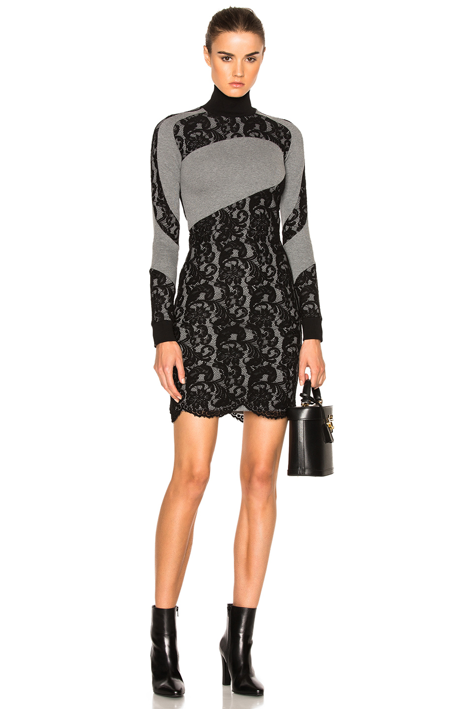 Photo of Carven Sweater Dress in Gray,Black online sales