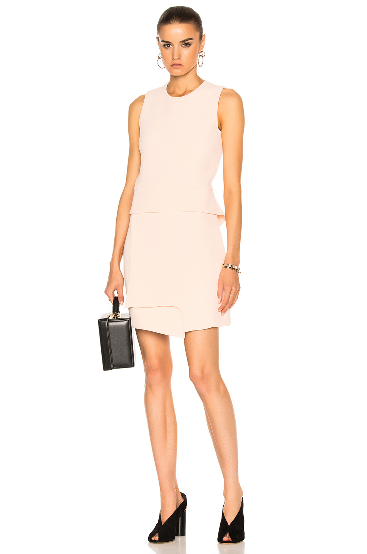 Carven Sleeveless Mini Dress in Neutrals,Pink