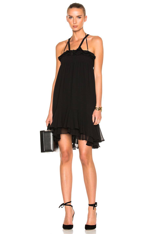 Photo of Carven Sleeveless Mini Dress in Black online sales