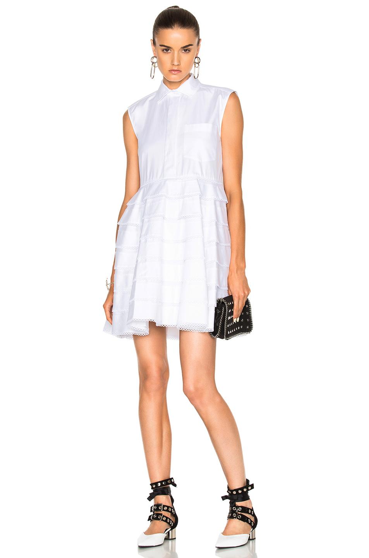 Carven Sleeveless Dress in White