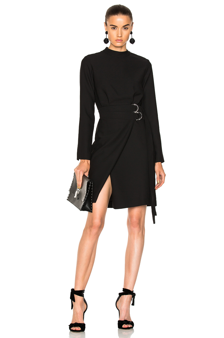 Carven Cut out Dress in Black