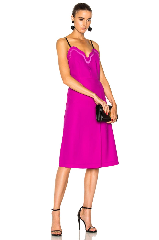 Carven Fragile Midi Dress in Purple