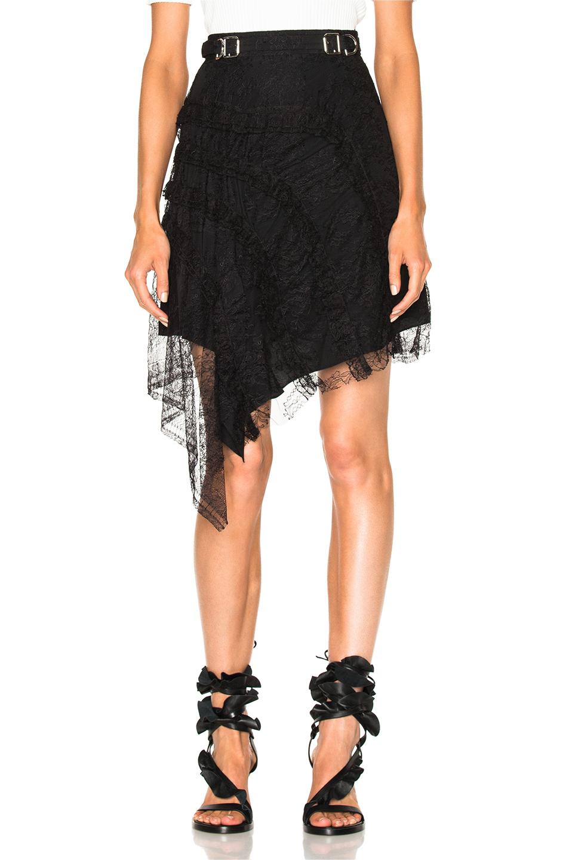Carven Asymmetrical Skirt in Black