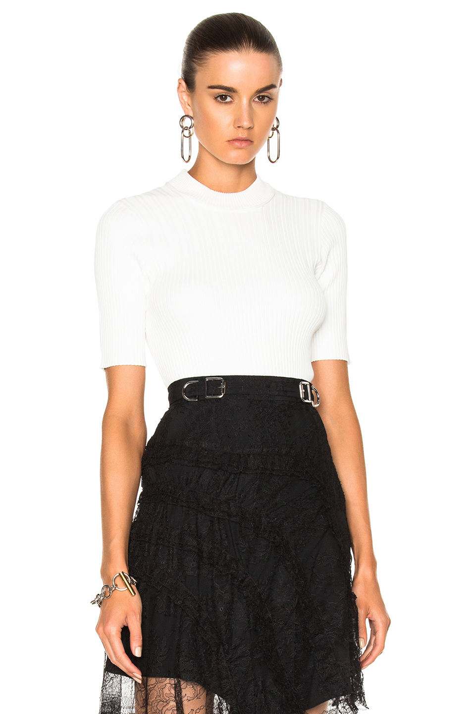 Carven Short Sleeve Top in White