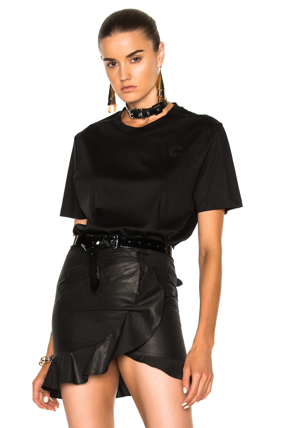 Carven Tee Shirt in Black