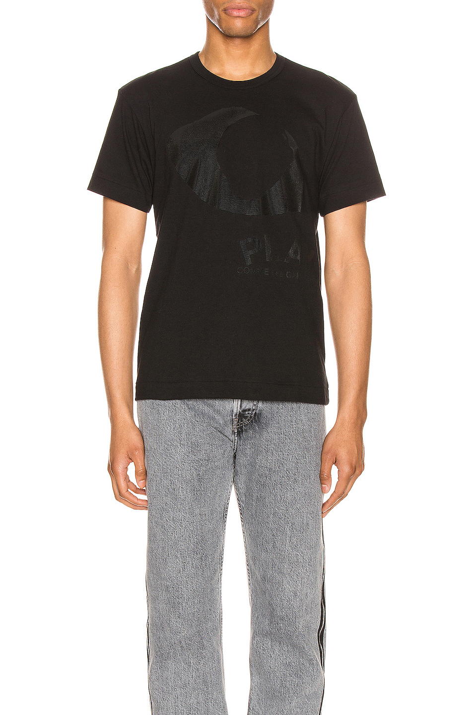 Comme Des Garcons PLAY Printed Eye Cotton Tee in Black