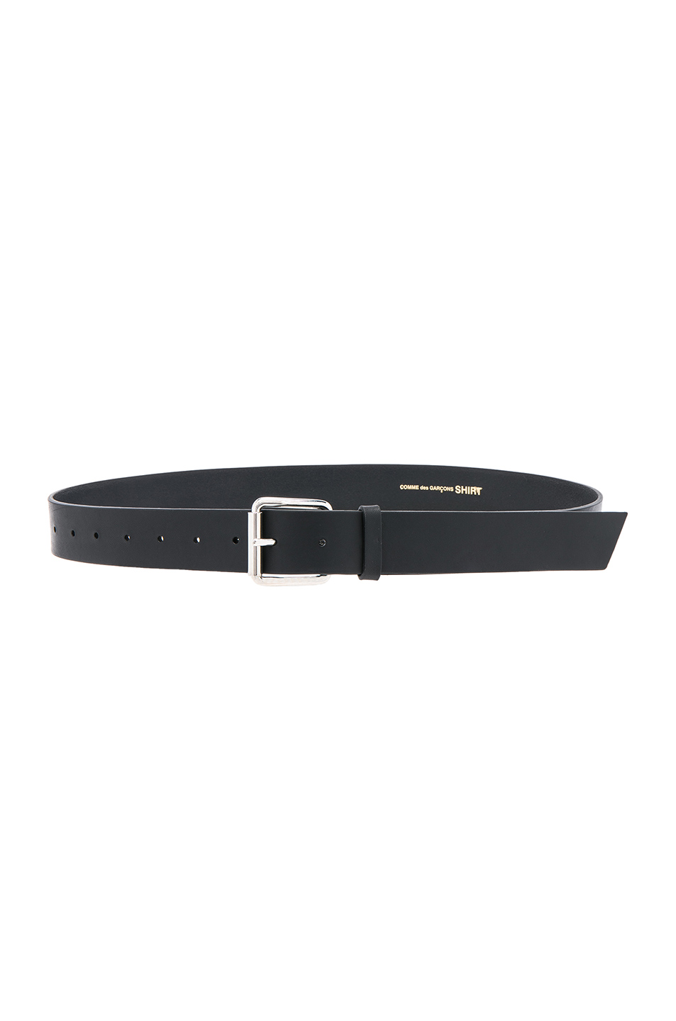 Comme Des Garcons SHIRT Cowhide Plain 35mm Belt in Black