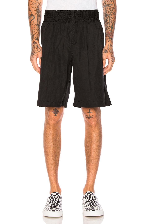 Comme Des Garcons SHIRT Cotton Poplin Shorts in Black