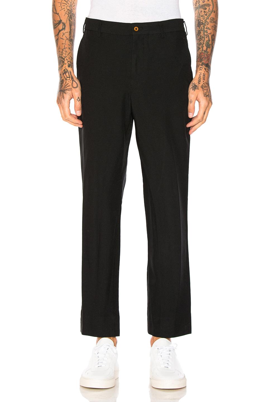 Comme Des Garcons Homme Plus Ester Double Cloth Twill Pants in Black