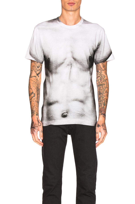 Comme Des Garcons Homme Plus Cotton Jersey T-Shirt in White