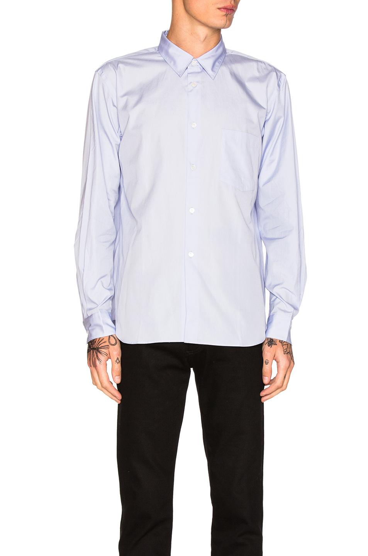Comme Des Garcons Homme Plus Cotton Broad Shirt in Blue