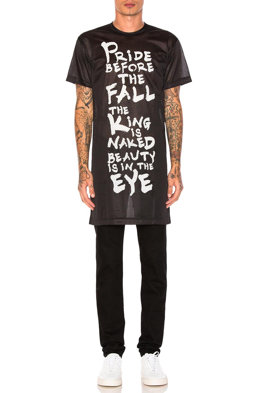 Comme Des Garcons Homme Plus Ester Mesh Print T-Shirt in Black