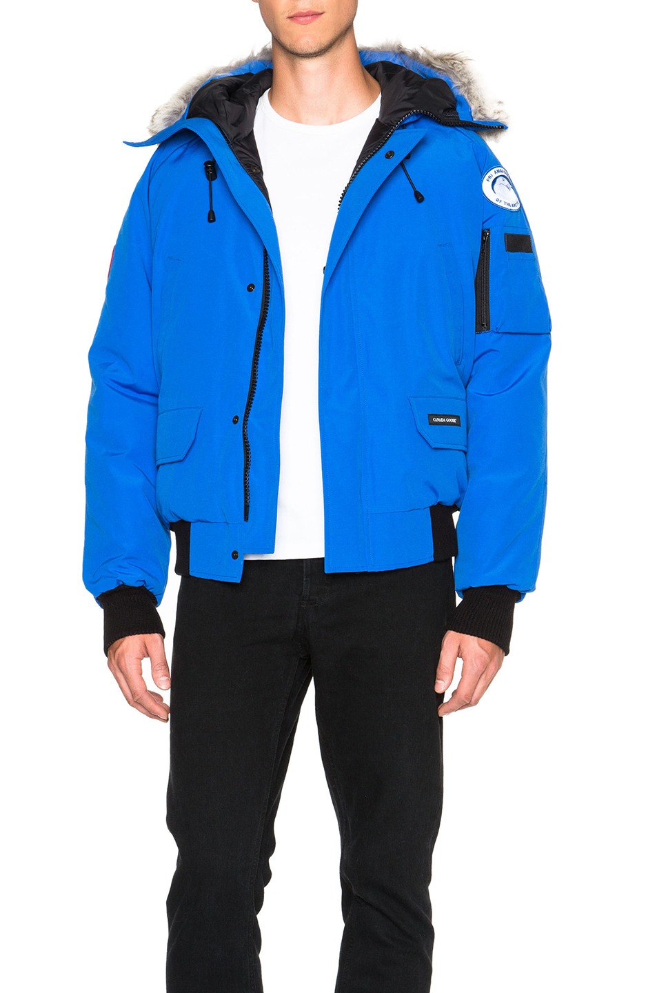 Canada Goose PBI Chilliwack Poly-Blend Bomber in Blue