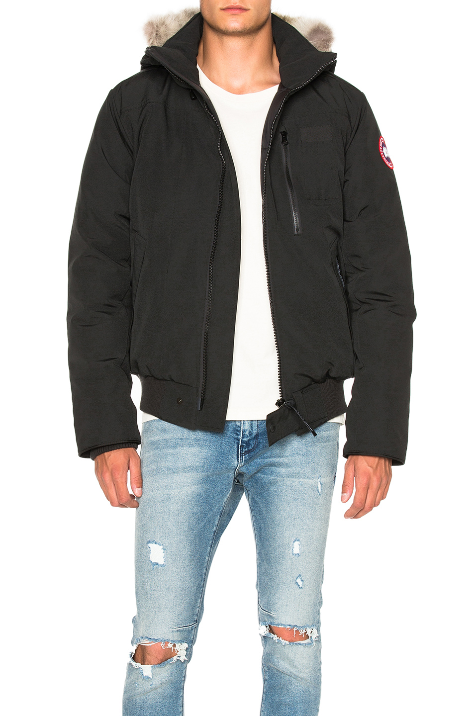 Photo of Canada Goose Borden Bomber in Black - shop Canada Goose menswear