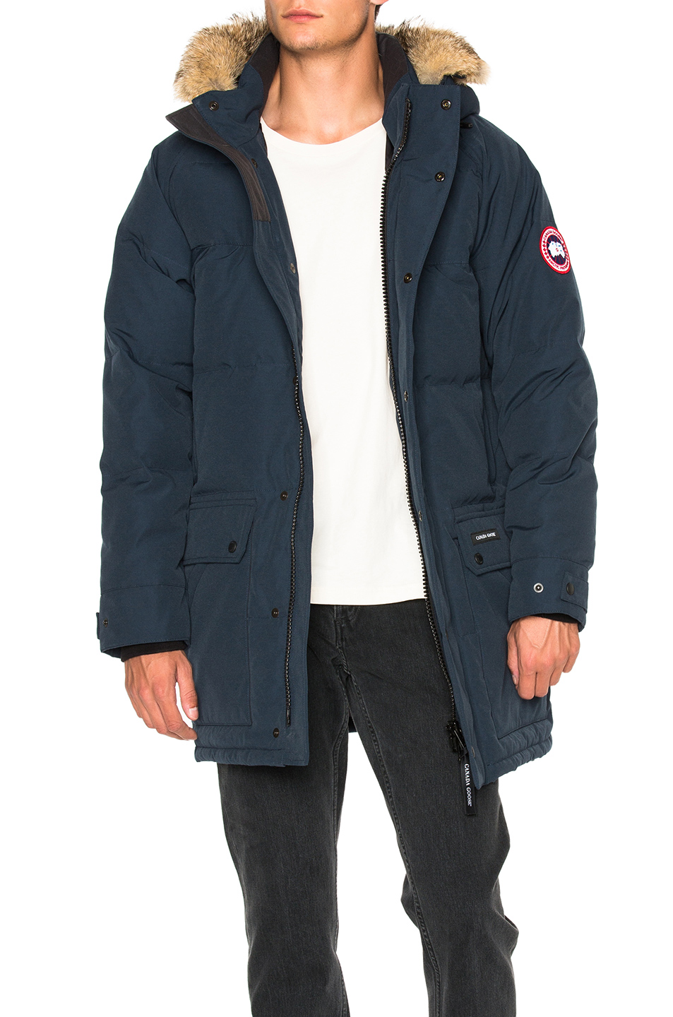 Canada Goose Emroy Parka With Coyote Fur in Blue
