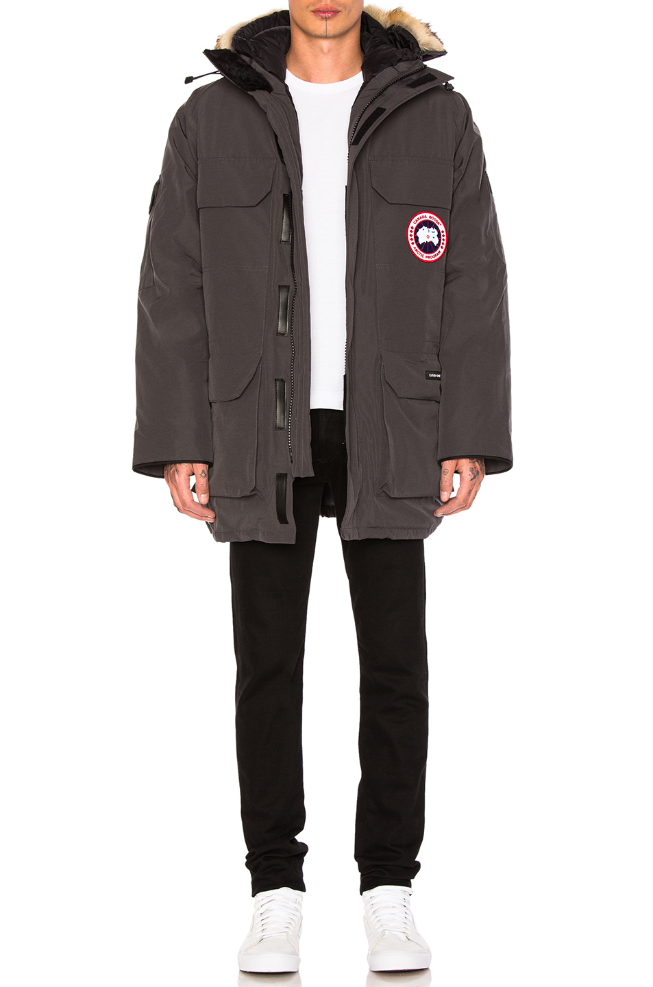Photo of Canada Goose Expedition Poly-Blend Parka in Gray - shop Canada Goose menswear