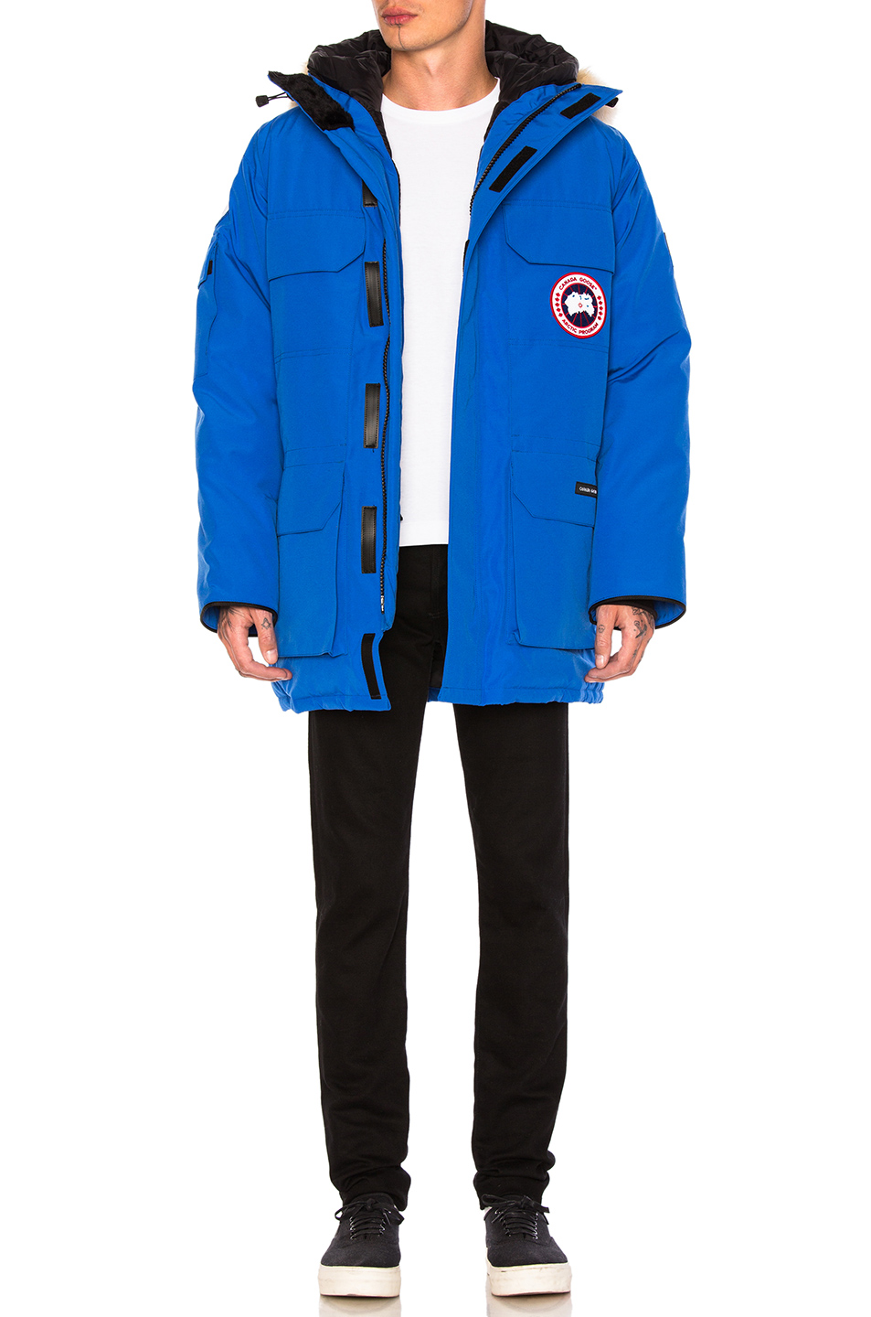 Photo of Canada Goose PBI Expedition Poly-Blend Parka in Blue - shop Canada Goose menswear