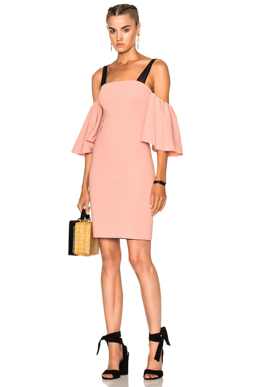 Cinq a Sept Monroe Dress in Black,Pink