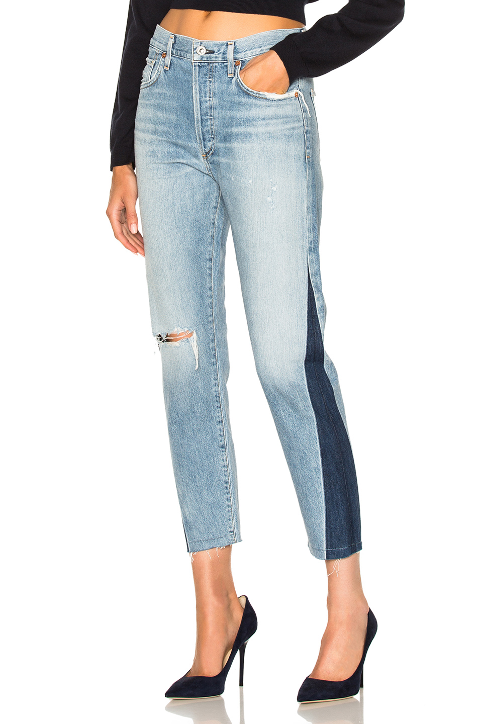 Citizens of Humanity Liya High Rise Classic Crop in Blue