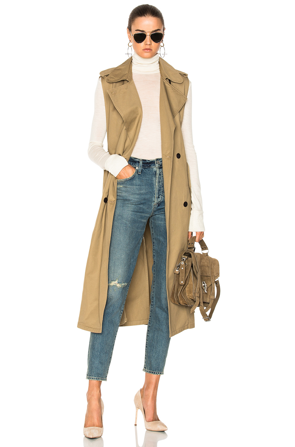 Citizens of Humanity Sleeveless Trench in Neutrals