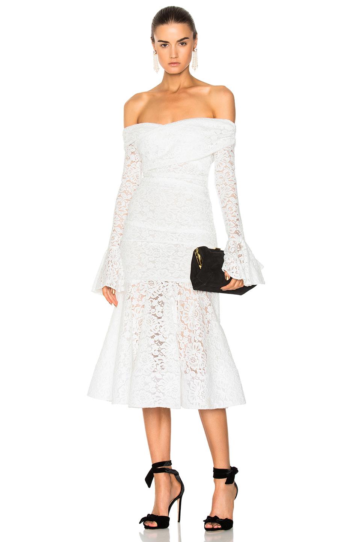 Caroline Constas Leda Dress in White