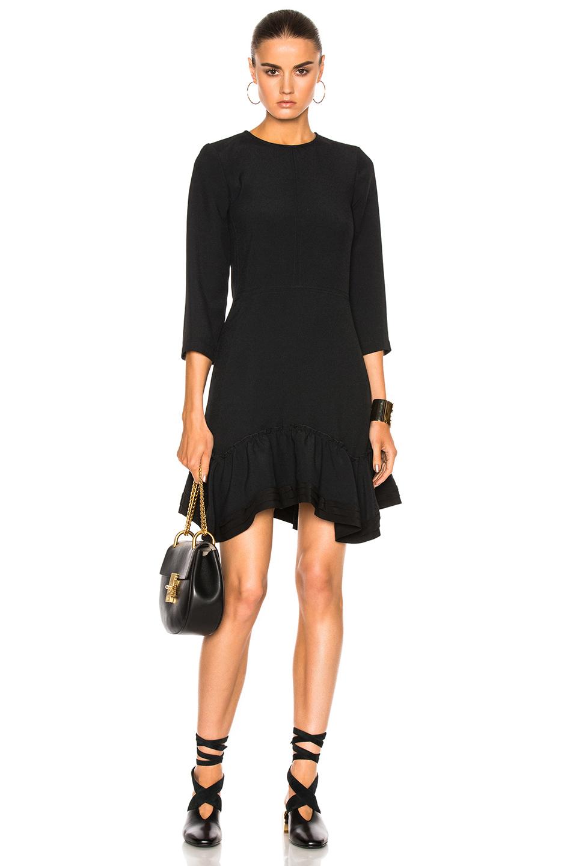 Chloe Crepe Sable Dress in Black