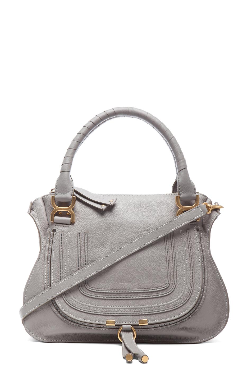 chloe medium marcie shoulder bag in cashmere grey fwrd. Black Bedroom Furniture Sets. Home Design Ideas