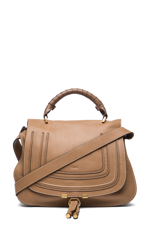 chloe medium marcie shoulder bag in nut fwrd. Black Bedroom Furniture Sets. Home Design Ideas