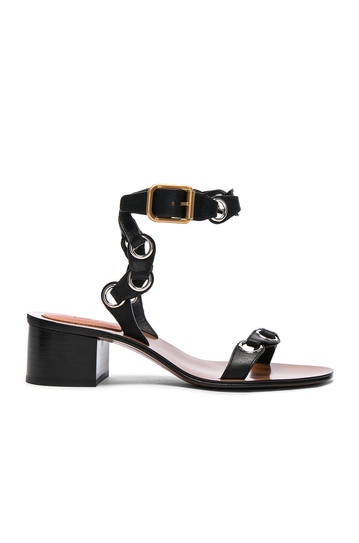 Chloe Leather Miller Sandals in Black