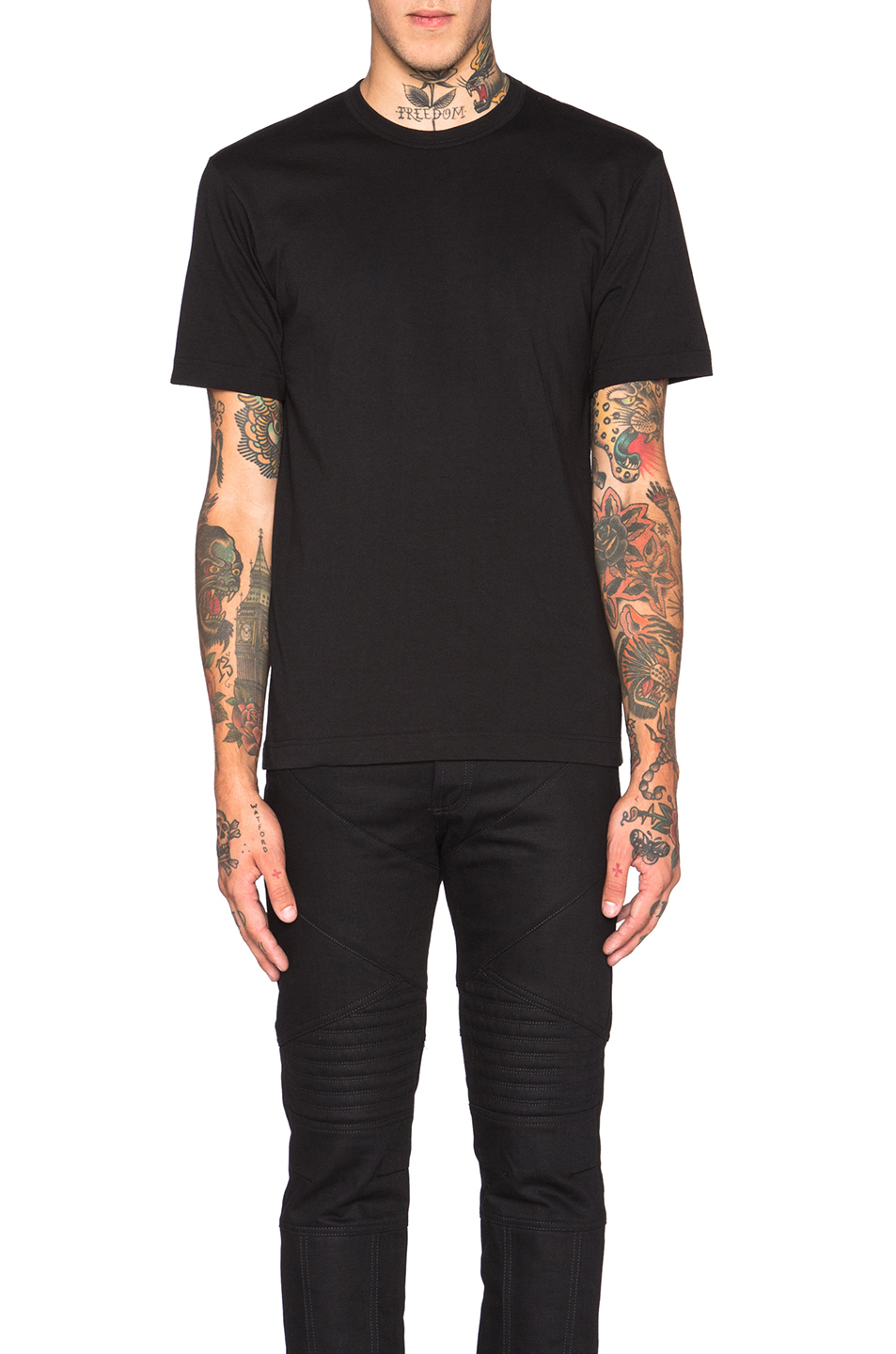 Comme Des Garcons SHIRT 'Forever' Cotton Tee in Black