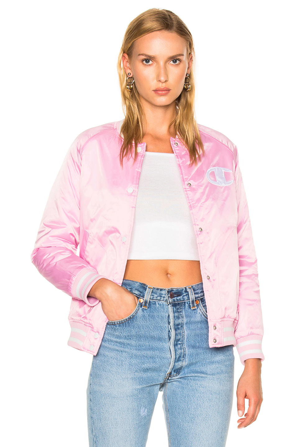 Champion Bomber Jacket in Pink