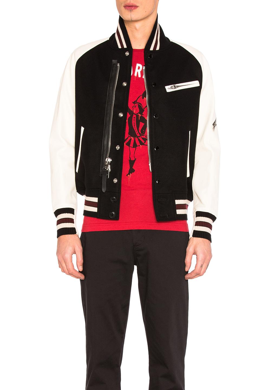 Coach 1941 Zipped Varsity Jacket in Black