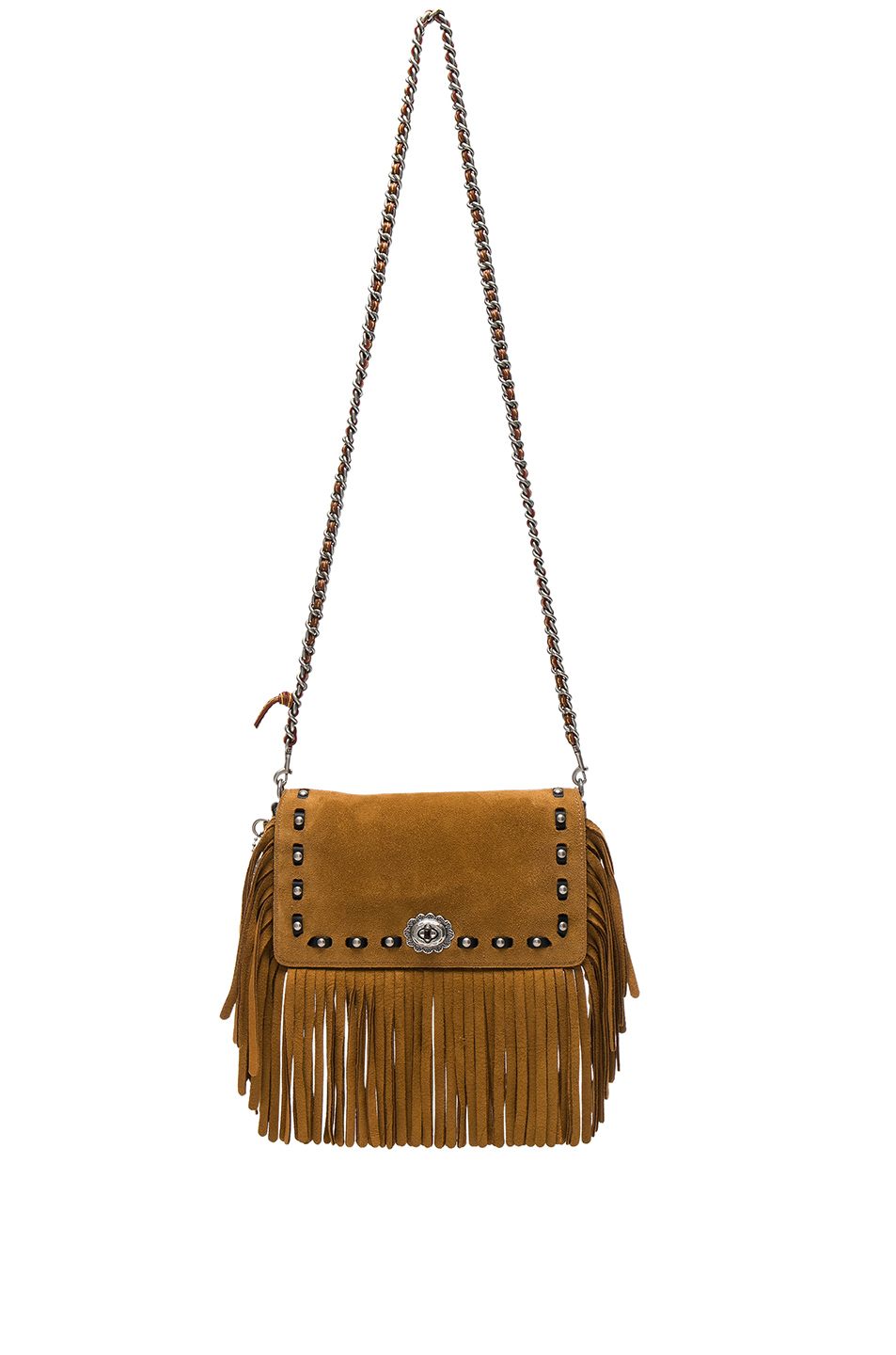 Coach 1941 Suede Fringe Dinky Bag in Brown