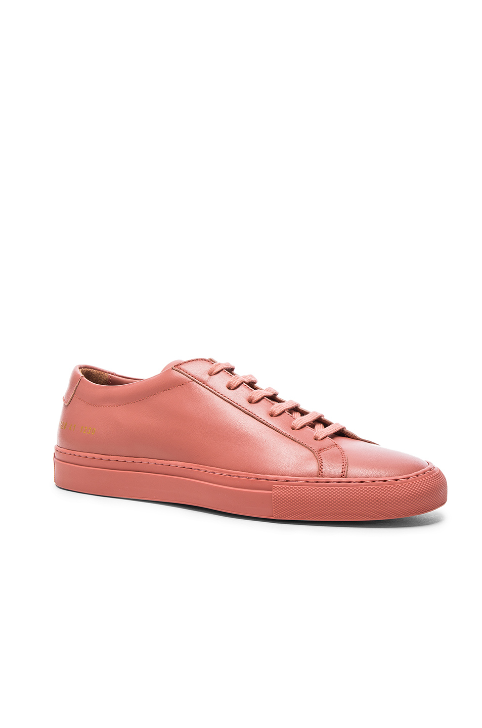 Common Projects Leather Original Achilles Low in Pink
