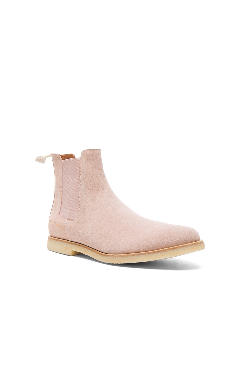Common Projects Suede Chelsea Boots in Pink