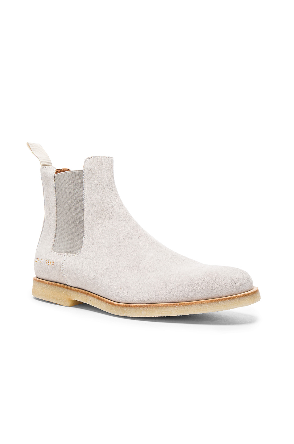 Common Projects Suede Chelsea Boots in Gray