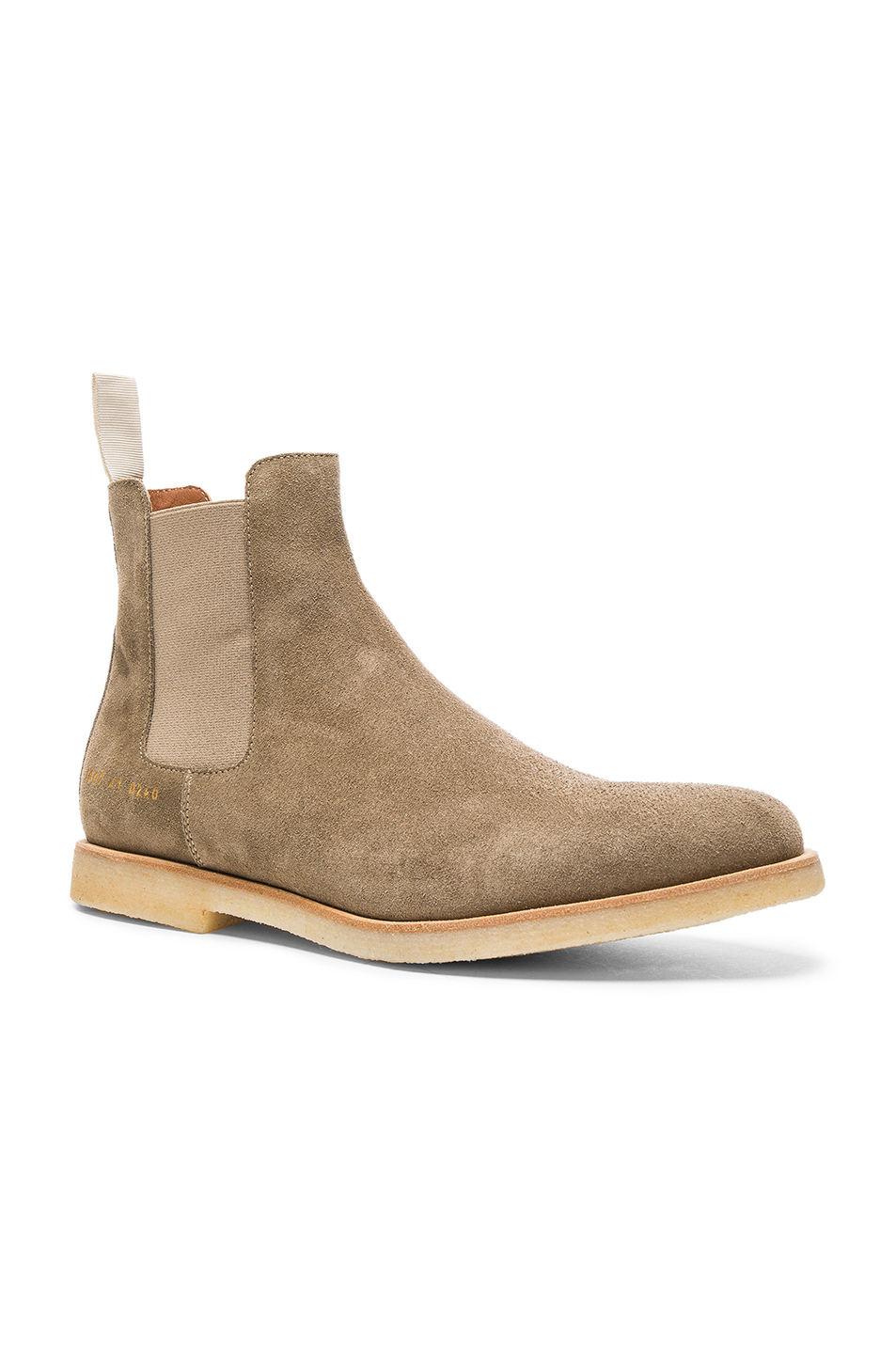 Common Projects Suede Chelsea Boots in Brown