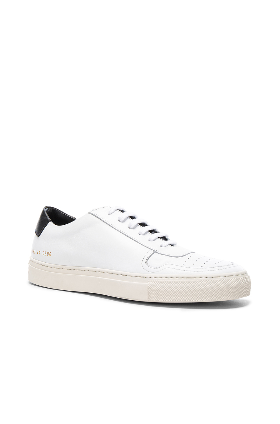Common Projects Leather Bball Low Retro in White
