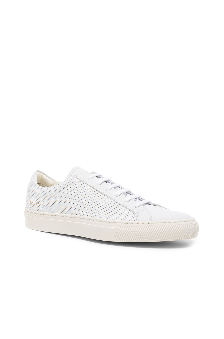 Common Projects Perforated Leather Achilles Summer Edition in White