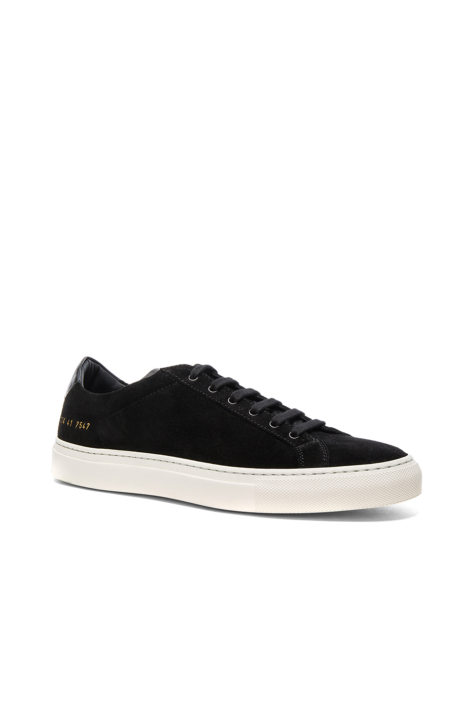 Common Projects Suede Achilles Retro Low in Black