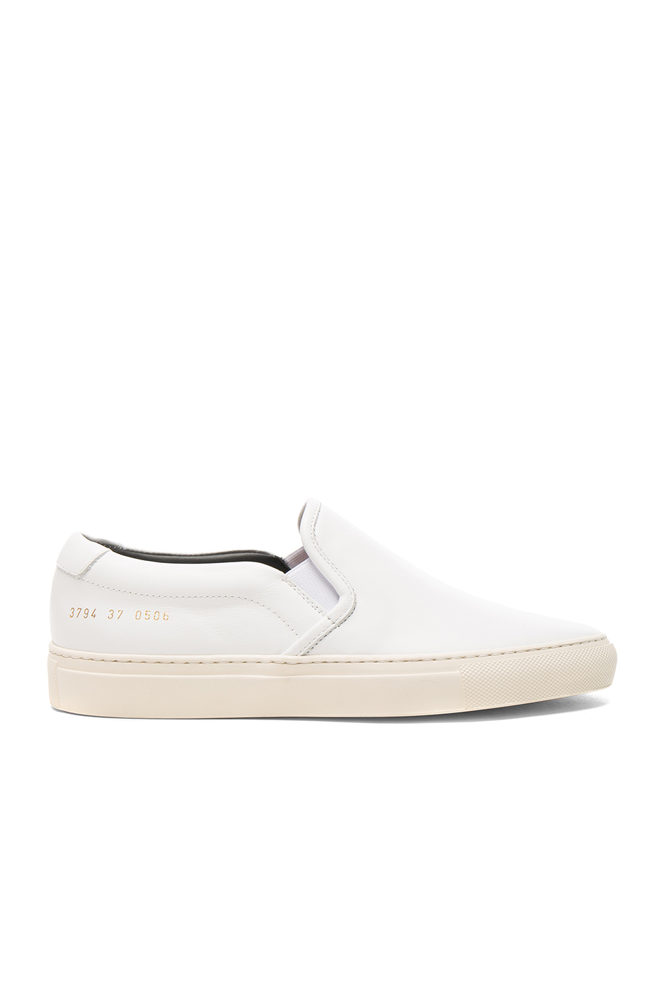 Common Projects Leather Slip on Retro in White