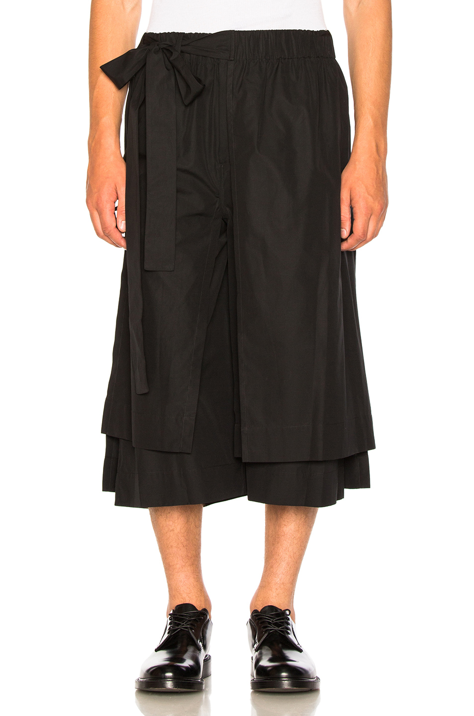 Craig Green Layered Cotton Track Shorts in Black