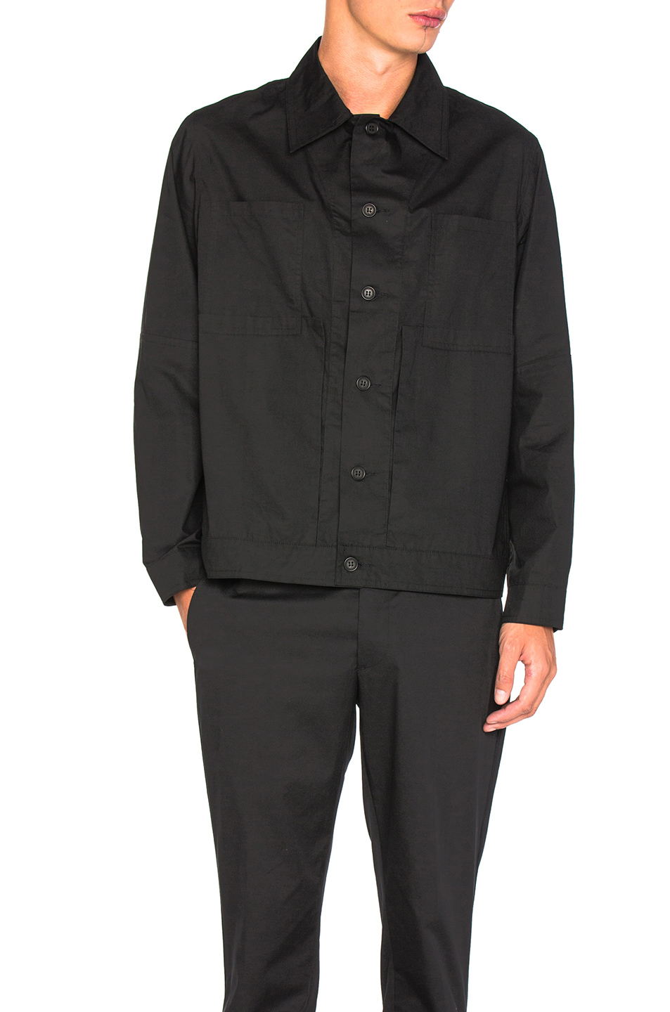 Craig Green Cotton Work Jacket in Black
