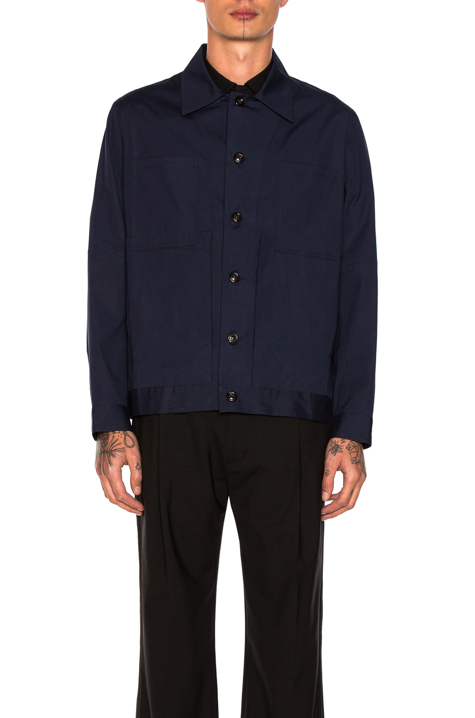 Craig Green Cotton Work Jacket in Blue